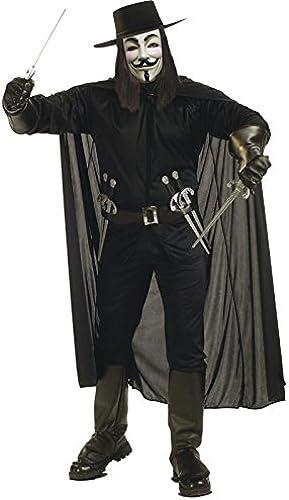 salida de fábrica Rubbies Rubbies Rubbies - Disfraz de V de Vendetta para hombre, Talla única (888238STD)  Entrega gratuita y rápida disponible.