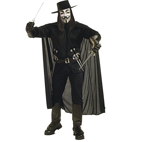 Wig Combo-Officially Licensed Mask V For Vendetta Official Deluxe Hat