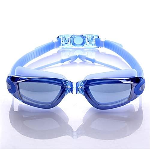 YWSZY Gafas Natacion, Gafas de natación a Prueba de Agua Artículos de Deportes acuáticos Hombres y Mujeres Anti-Niebla y Anti-Ultravioleta Silicona Gafas de natación (Color : Blue)