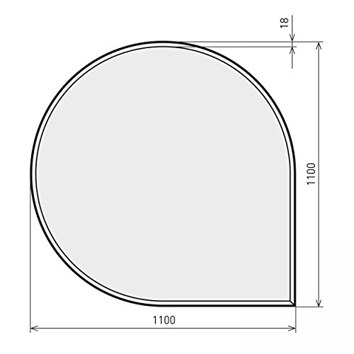 raik B40008 Kamin Glasplatte Tropfen inkl. Facette