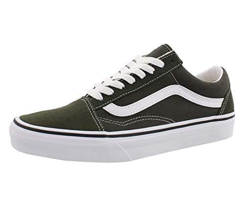 Vans Old Skool, Unisex-Sneaker für Erwachsene, Wildleder/Segeltuch, Grün - Grün/Weiß - Größe: 40 EU