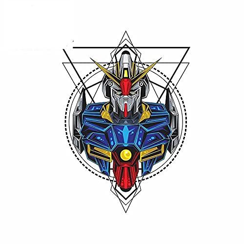 A/X 13 cm 9,4 cm para Anime Mecha Robot en geometría Sagrada Pegatina para Coche Aire Acondicionado