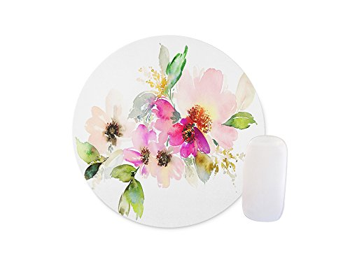 Shuangyi - Beautiful Watercolor Flower Round Mouse pad Customized Non Slip Rubber Round Mouse pad Non Slip Rubber Mouse pad Gaming Mouse Pad