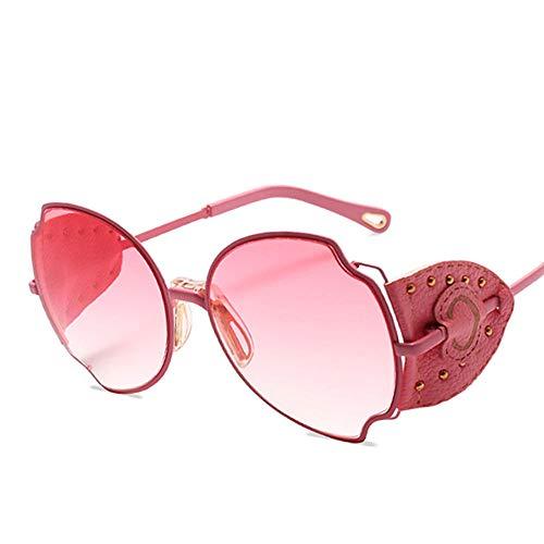 ZQSM Gafas de Sol de Moda, Marco de Metal Personalidad Gafas de Sombra, Unisexo Protección UV400 Completa Anteojos Deportivos-C
