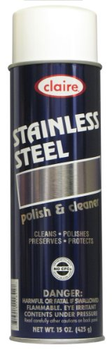 Claire C-841 15 Oz. Stainless Steel Polish & Cleaner Aerosol Can (Case of 12)