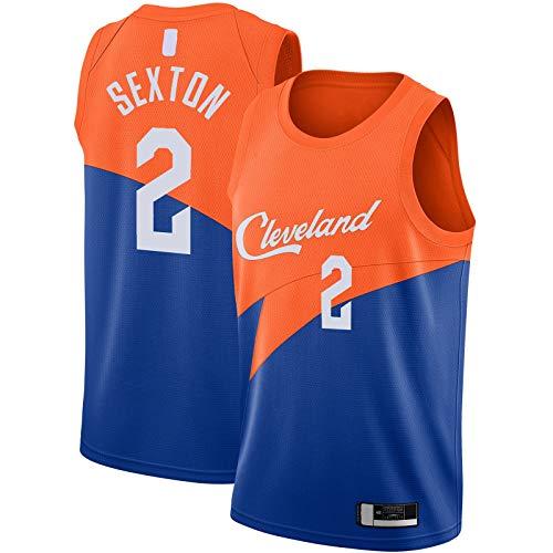 GSDAA Collin Sexton Camiseta de baloncesto de manga corta Cleveland Top sin mangas Cavaliers Bordado #2 City Edition Swingman Jersey Azul - Icon Edition-S