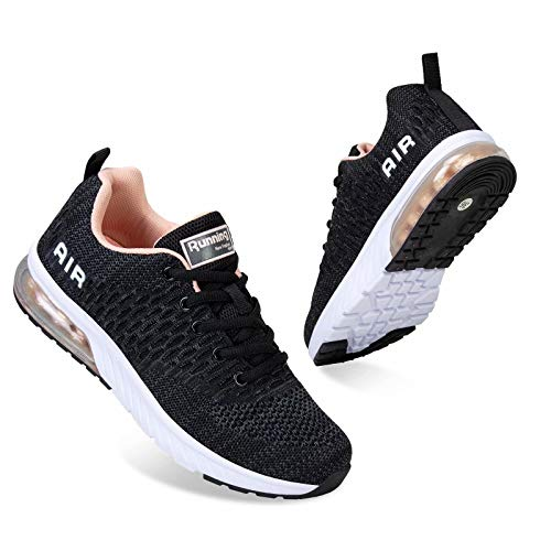 Mabove Men Women Running Shoes Air Cushion Sports Trainers Shock Absorbing Sneakers for Walking Gym Jogging Fitness Athletic Casual, 8 UK, Grey.p/Hk82