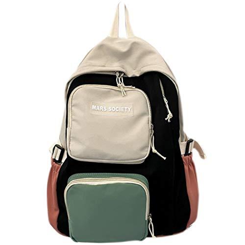 LZL Mochilas Bolsas de la Escuela de Coincidencia de Color Tendencia Casual Daypacks Secundario Colegio Estudiantes Mochilas Escolar Viajes Pequeña Mochila Fresca Mochila (Color : A)