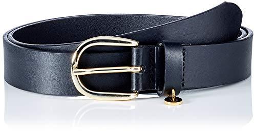 Tommy Hilfiger TH Coin Charm Belt 3.0CM Cinturón, Negro, 85 cm para Mujer