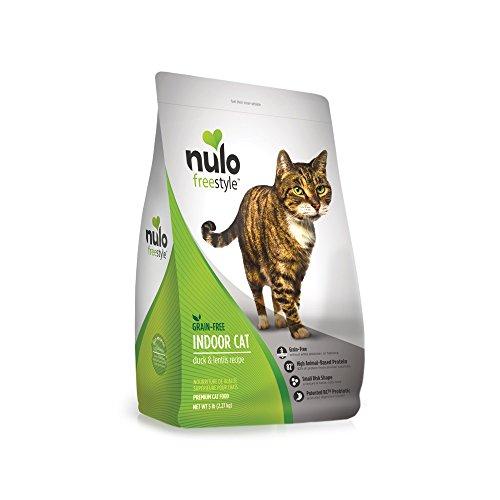 Nulo Indoor Grain Free Dry Cat Food With Bc30 Probiotic (Duck & Lentils Recipe, 5Lb Bag)