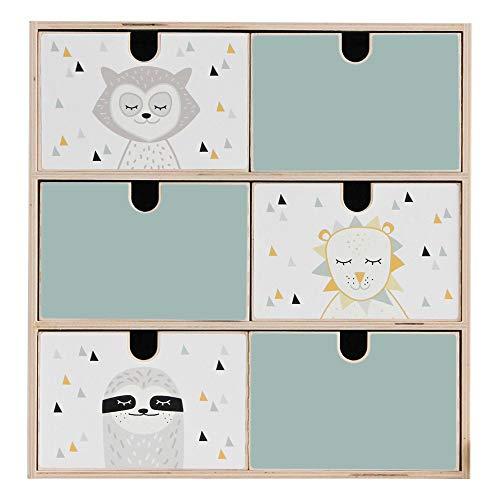Limmaland Aufkleber passend für Deine IKEA MOPPE Mini-Kommode (Farbe Mint) - Mini-Kommode Nicht inklusive