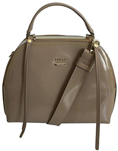 Furla - Bolso mochila de Charol para mujer beige beige
