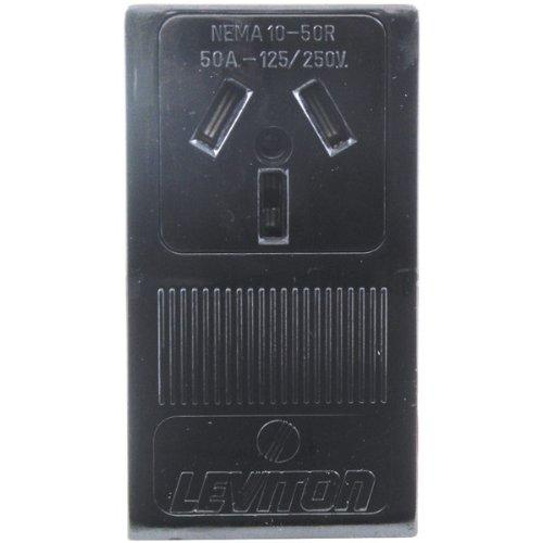 Price comparison product image Leviton 50 amps 125 / 250 volt Black Outlet 10-50R 1 pk