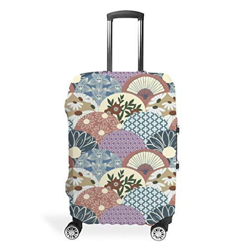 Funda protectora para equipaje con diseño de margaritas japonesas, con compartimentos para flores, resistente al polvo, para maletas de viaje