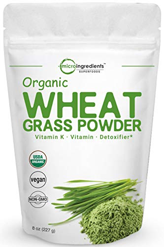 Sustainably US Grown, Organic Wheat Grass Powder, 8 Ounce (75 Serving), Rich in Immune Vitamins, Fibers,...