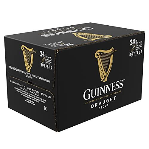 Guinness Draught Birra Irlandese, Bottiglia - Pacco da 24 x 330 ml