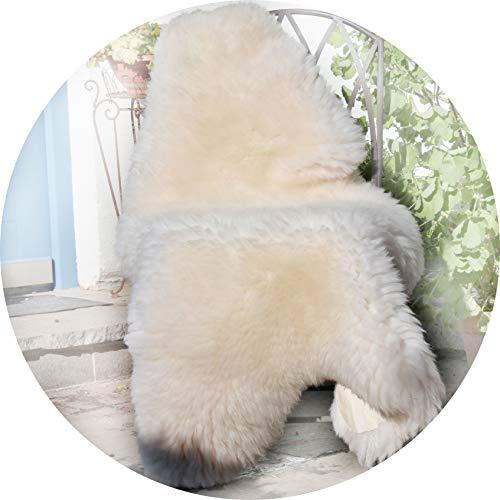 Alpenfell Schaffell Lammfell Weiß Merinoschaf groß 130-140cm echtes Fell ökologische Gerbung - Schadstoff geprüft