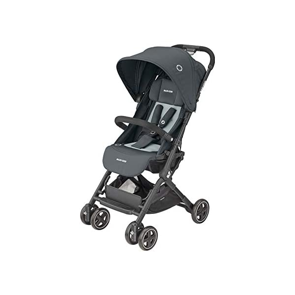 Maxi-Cosi Lara2. Lightweight, Compact Pushchair, Easy-to-fold, from Birth up to 4 Years, up to 22 kg, Essential Graphite Maxi-Cosi Pushchair for baby and toddler, from birth up to 4 years, up to 22 kg The ultra-compact and lightweight design makes the lara² easy to carry thanks to its shoulder strap and easy to store in even the smallest places Unique one-hand flash fold: press the push bar and the pushchair will automatically fold 1