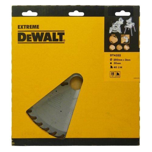 DeWalt DT4322QZ 250 x 30 mm x 3.0 , 40-Zahn Kreissägeblatt Serie 60