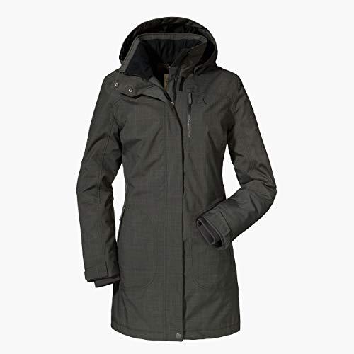 Schöffel Damen Insulated Parka Monterey2 wasserdichte Winterjacke für jedes Wetter, warmer und schöner Damen Mantel mit hoher Atmungsaktivität