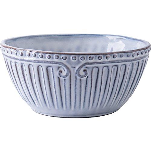 ZHDWM Ciotola di Insalata Piatto di Ceramica da Tavola Creativo in Rilievo Merletto Decorazioni da Tavola Snack Noodle Vassoio di Pasta Ciotola (Size : B:15.6x7.3x9.6cm)