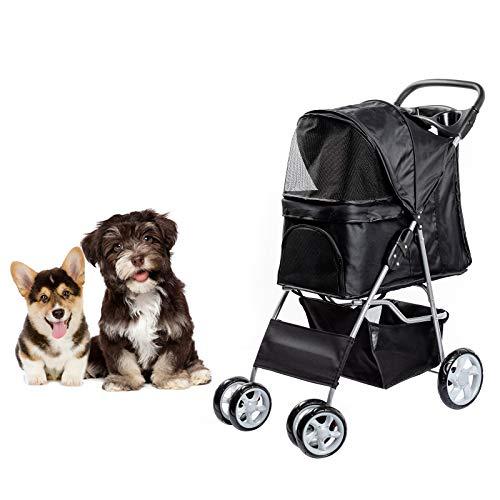 DAWOO 4-Wheel Pet Trolley Stoller