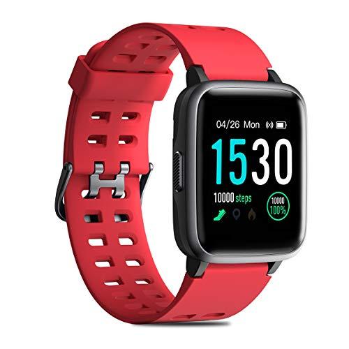 CHEREEKI Reloj Deportivo, IP68 Reloj Inteligente 1.3' con Monitor de Ritmo Cardíaco, Pulsera Actividad para Xiaomi Detecta Datos de Ejercicios de Interior como Saltar la Comba, Correr en Cinta, etc