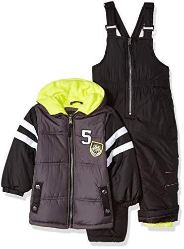iXtreme Boys' Toddler Active Colorblock Snowsuit, Charcoal, 2T