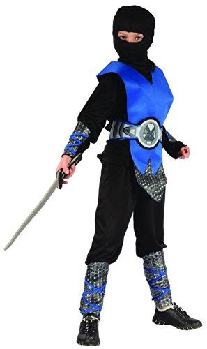 Generique Déguisement Ninja Bleu garçon 7 - 9 Ans (M)