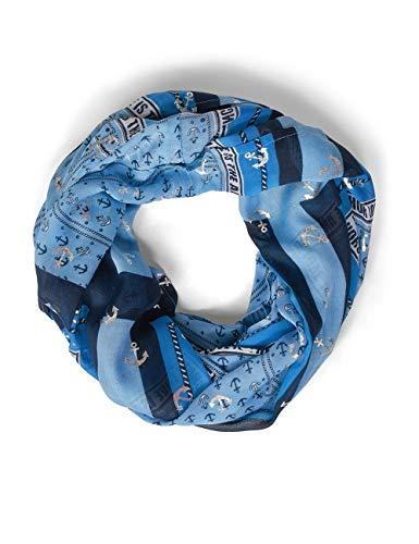 Cecil Damen 571150 Mode-Schal, Deep Blue, One Size