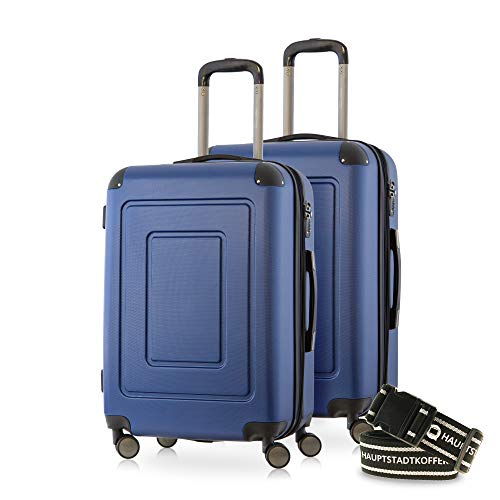 Happytrolley Lugano Luggage Set, 66 cm, 78 liters, Blue (Dunkelblau)