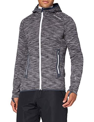 ORTOVOX Herren Fleece Space Dyed Hoody, Black Raven Blend, XL