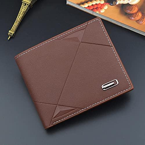 Herrplånbok Kort tunn Mini Slim kreditkort Läder liten plånbok Fritids herrar för ungdomar tvärsnitt mjuka plånböcker