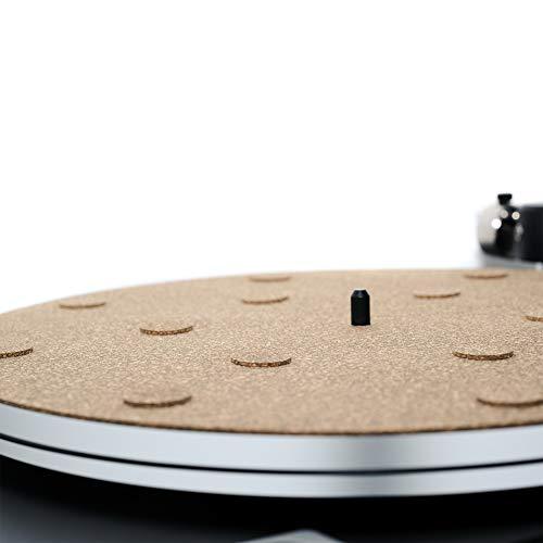 "CORKery Decoupled Cork N Rubber Turntable Platter Mat -1-8"" - Audiophile Anti-Static Slipmat"