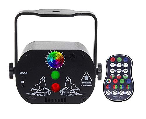 Lámpara estroboscópica de proyector para pista de baile en casa, 60 patrones, control de voz, luces de discoteca para fiestas para adultos Proyector de iluminación estroboscópica de bola de DJ, lámpar