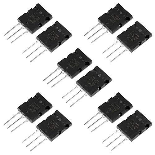 Transistor de silicio de audio a juego con transistor de amplificador de alta potencia para el modelo 2SA1943 2SC5200, 5 pares