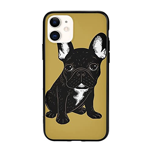 Brindle French Bulldog iPhone 11 Pro Max-6.5 Inch Case Soft and Flexible TPU ANG Pc Design Shockproof Protective for iPhone 11 Cases