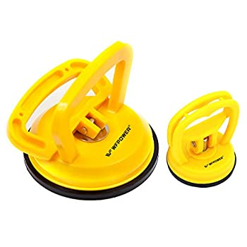 WFPOWER Yellow Suction Cup Dent Puller Handle Lifter 5inch / Dent Remover/Heavy Duty Glass Lifting Suction Cup with Small Suction Cup