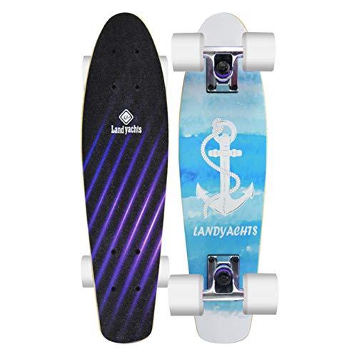 Skateboards -Skateboard Erwachsene,22 Inches Mini Cruiser Retro Skateboard,Banana Board Skateboard Kinder Für Anfänger Teenager Erwachsene