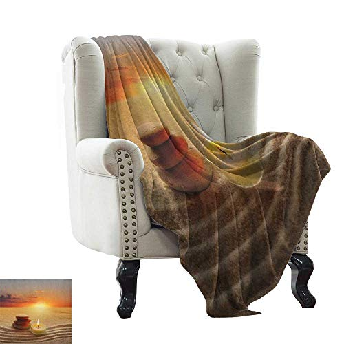 BelleAckerman Manta de sofá Boho Hippie con patrón místico con Motivos de Henna Oriental Oriental Oriental Oriental de Asia Oriental, Manta de Cama Ligera y refrescante de Verano