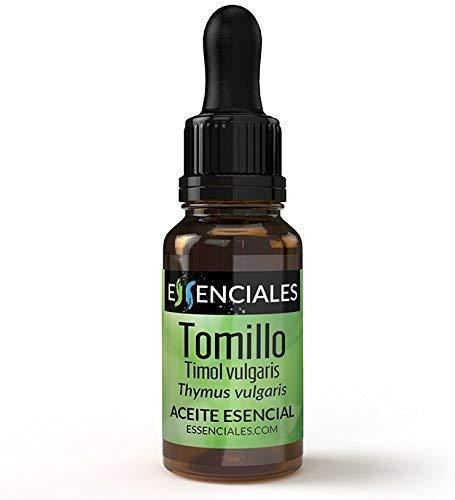 Essenciales - Aceite Esencial de Tomillo Timol, 100% Puro, 10 ml | Aceite Esencial Thymus Vulgaris