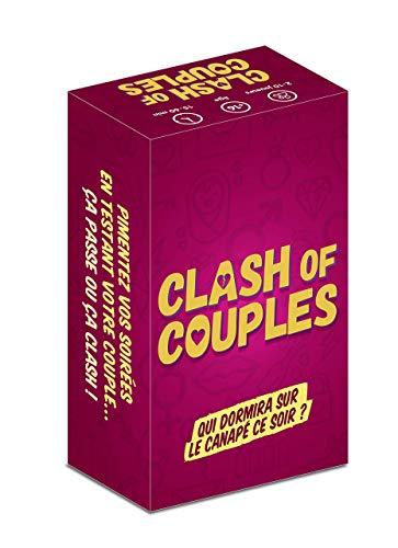 Clash of Couples - Jeu de Cartes Couples pour Apéro & Soirées – Jeu de société Adulte – Idéal cadeau de Mariage, de Saint Valentin, de Noël ou d'Anniversaire