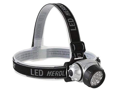 Perel 3920 Lampe Frontale 23 LEDs, Gris