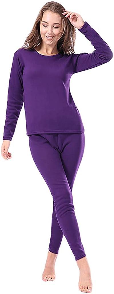 Summer KINGVON Winter Faux Fleece Lined Thermal Underwear Set Pullover Warm Base Layer Pajamas