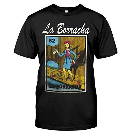 Vintage T-Shirts Men's Women's, Mexican Womens Fitted Cut-Loteria-Theme Shirt-LA-Borracha Cool Gildan T-Shirt, Tank Top, Hoodie, Long Sleeve, Sweatshirt, Crew Neck Short Sleeve Gifts