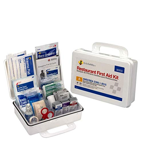 25 Person First Aid Kit ANSI A Restaurant Bulk Kit Plastic Case  OSHA Emergency Kit Trauma Kit First Aid Kits for Restaurants