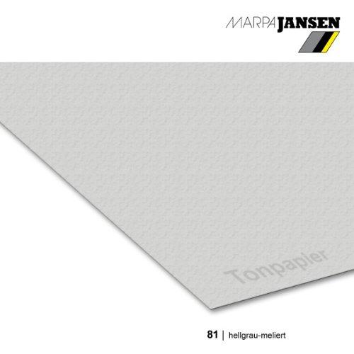 MarpaJansen Tonzeichenpapier - (DIN A3, 50 Bogen, 130 g/m²) - zum Basteln & Gestalten - Zertifizierung durch,Blauer Engel -