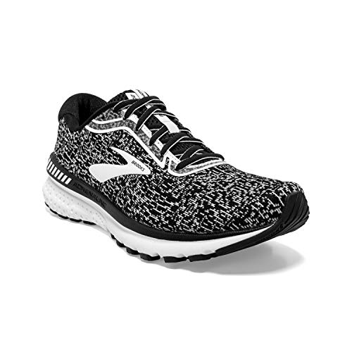 Brooks Mens Adrenaline GTS 20 Running Shoe - Black/White - D - 8.5