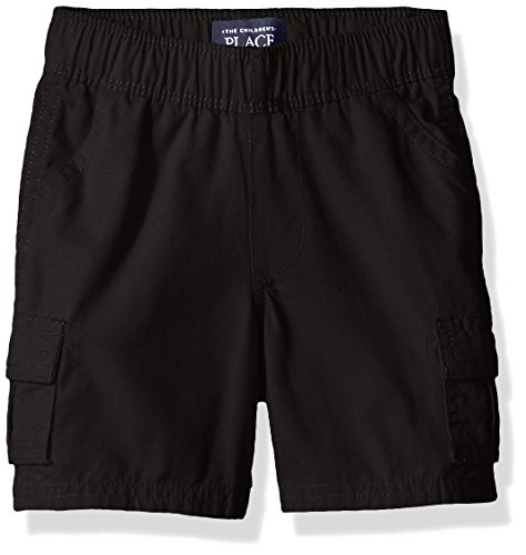 The Children's Place Baby Boys' Pull On Cargo Shorts, Black 60634, 3T