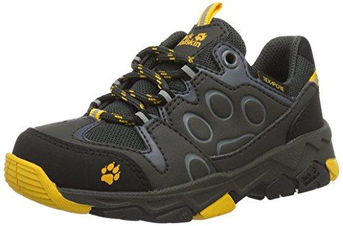 Jack Wolfskin Unisex-Kinder MTN Attack 2 Texapore Low K Trekking- & Wanderhalbschuhe, Grau (Burly Yellow), 33 EU